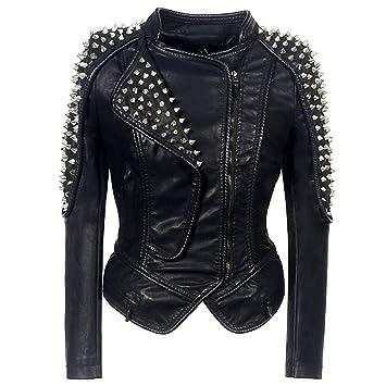 Amazon.com : Sijux Womens Punk Rock Stylish Zipper Slimming ...