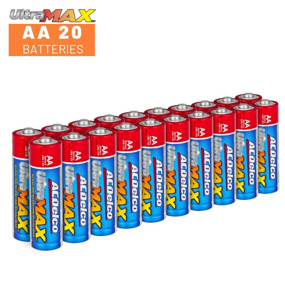 20-Count Each ACDelco AA and AAA Batteries UltraMAX Premium Alkaline Battery