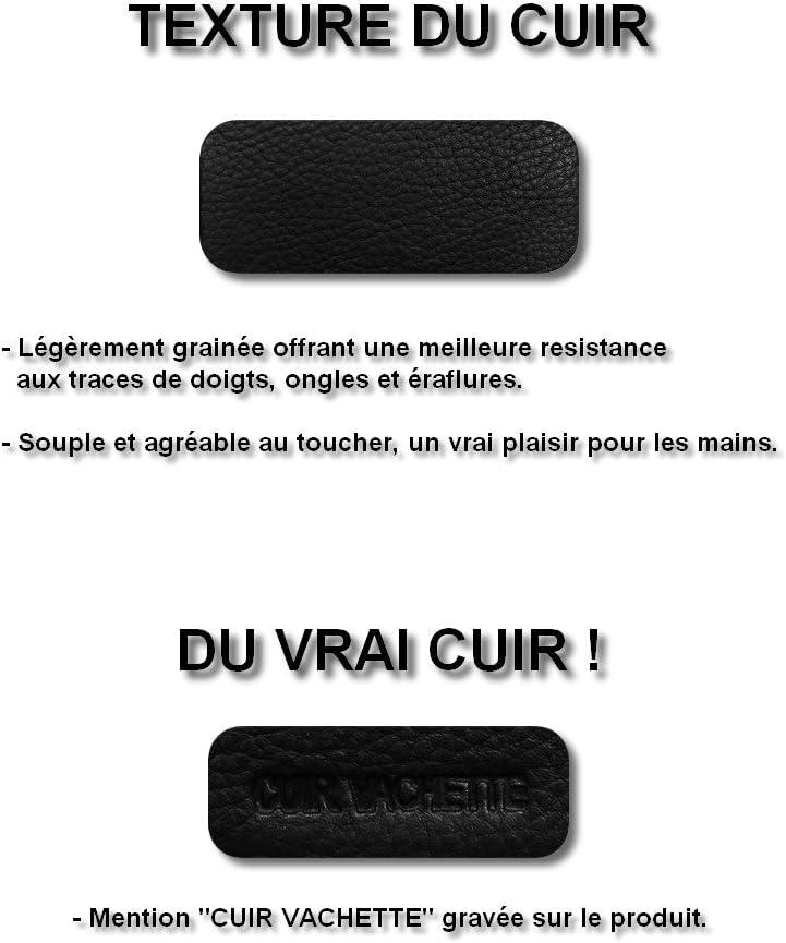 NFC- 3 Volets Bleu Marine Cuir Vachette V/éritable Homme//Femme 9 Cartes Mini Portefeuille LOLUNA/® Etui Porte Carte de cr/édit RFID Compact