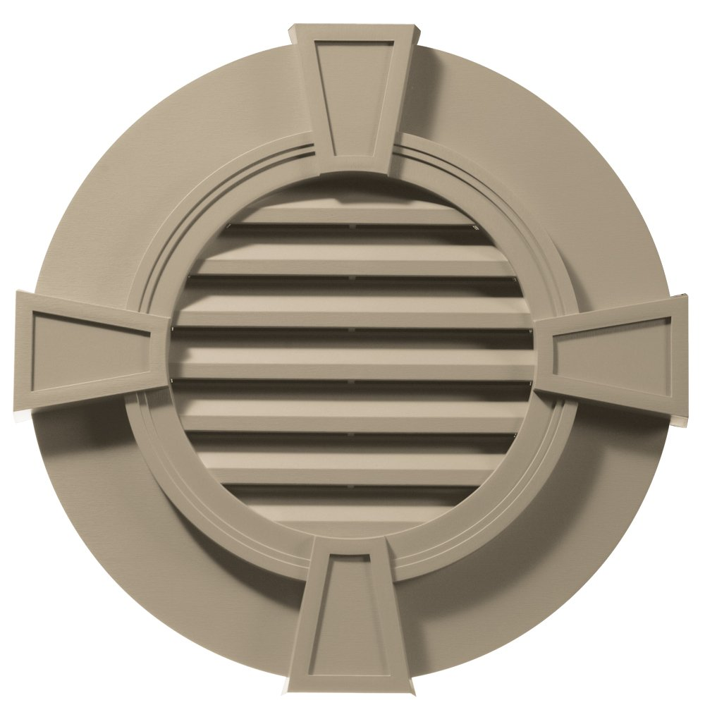 Builders Edge 120033030085 30'' Round Octagon Vent Wide Ring and Keystones 085, Clay