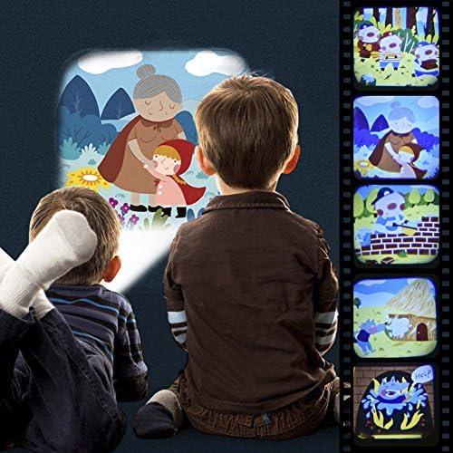 Pueri Linternas Proyector de 4 Cuentos Infantiles para Niños ...