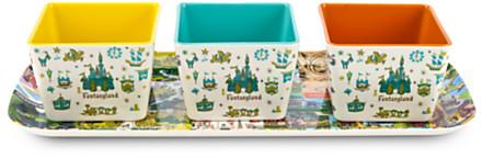 Magic Kingdom Map Appetizer Serving Set | Disney Store