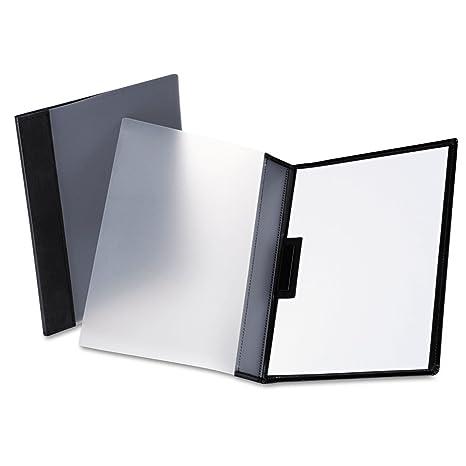 Oxford 63133 Two-Pocket Folder PVC w / Ready-Clip sujetador-30 Capacidad