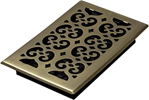 Decor Grates SPH610-A Scroll Floor Register, 6-Inch by 10-Inch, Antique Brass