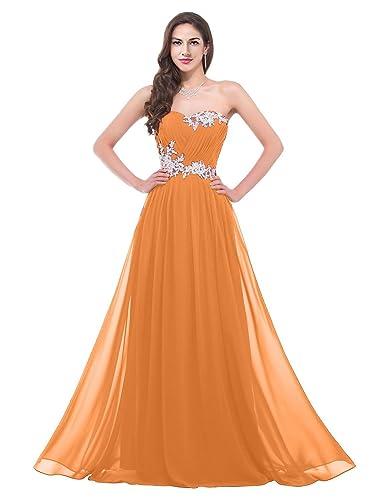 ThaliaDress Women Long Chiffon Applique Bridesmaid Evening Dress T001LF