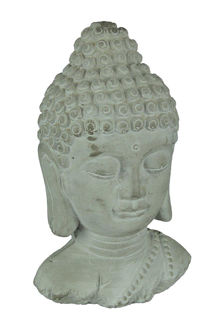 Three Hands Buddha Head Asian Figurines, Gray by Three Hands