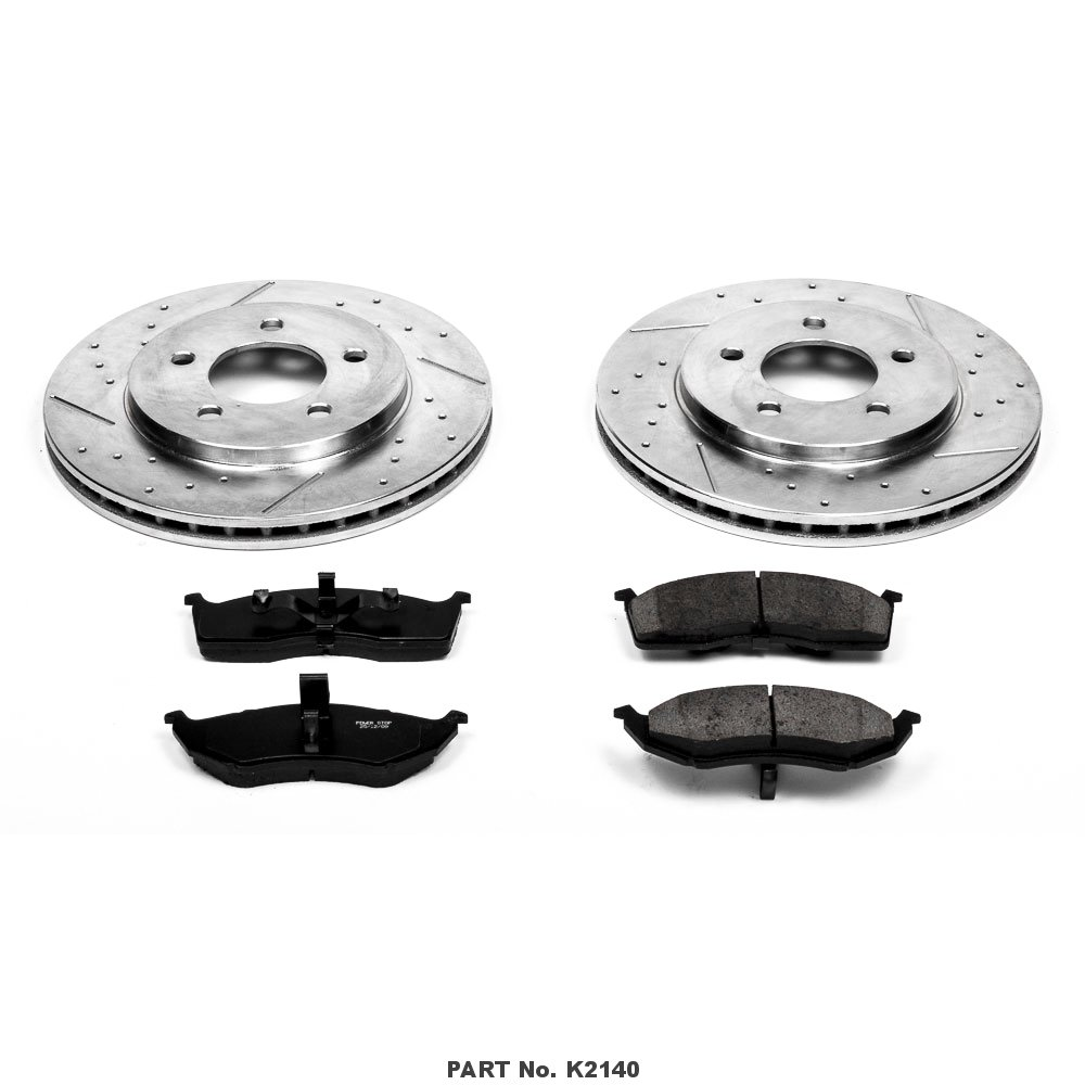 Power Stop K2140 Front Z23 Evolution Brake Kit with Drilled//Slotted Rotors and Ceramic Brake Pads
