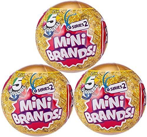 5 Surprise Mini Brands Series 2 through Zuru - 3 Ball Bundle