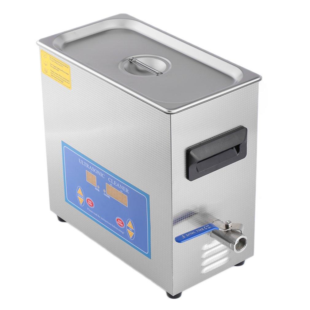 Digital Ultrasonic Industry Cleaner Heater Timer 110V / 220V 6L Capacity Stainless Steel Cleaning Equippment Dental Tool
