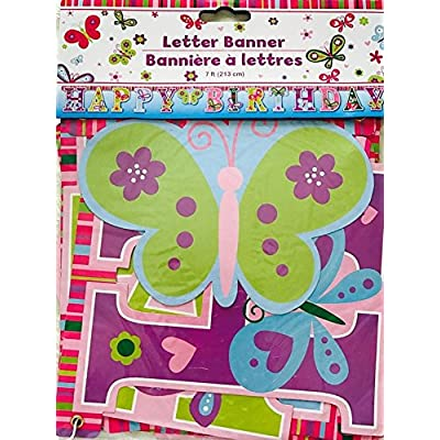Happy Birthday Butterfly Letter Banners, 7 ft. by Greenbrier: Toys & Games