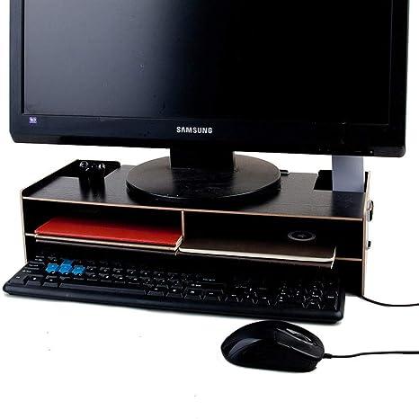 SS&LL Soporte de Monitor WoodSturdy Mesa ergonómica de ...