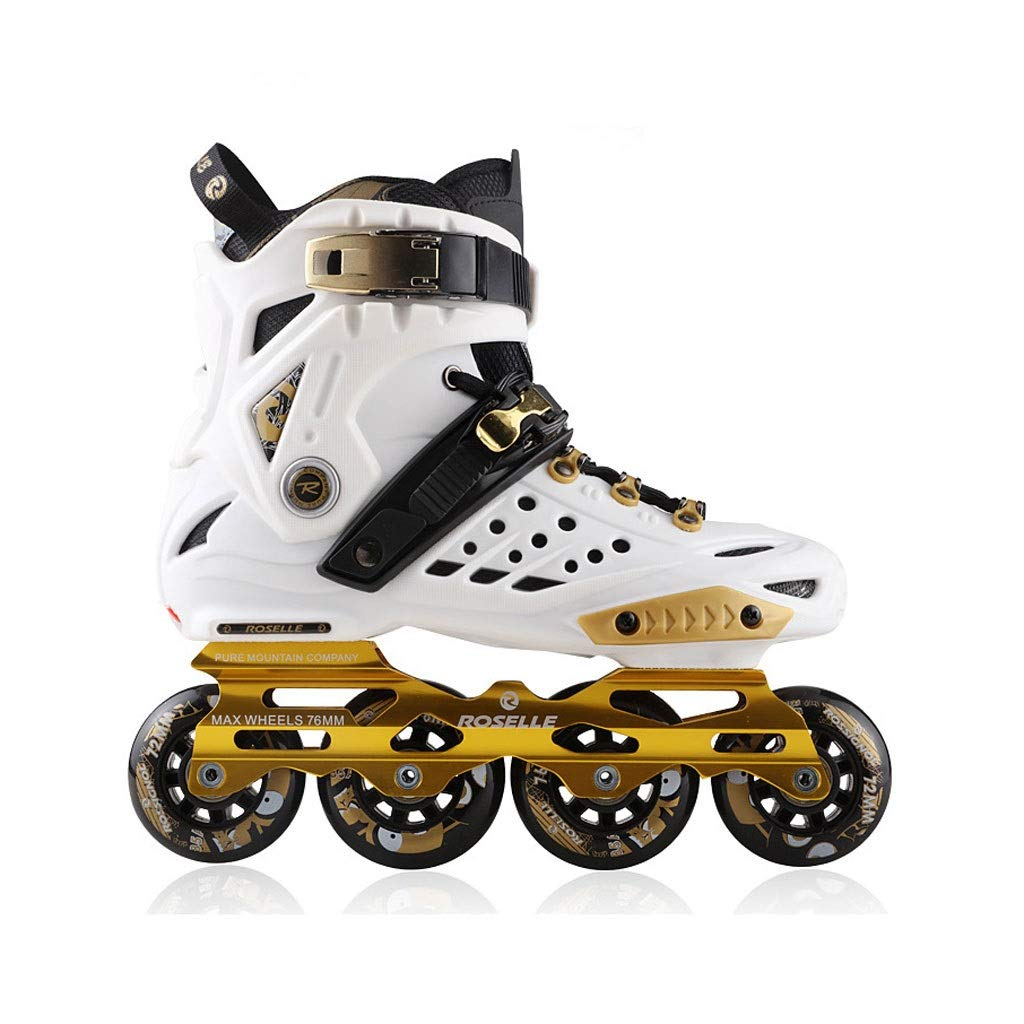 Ailj インラインスケート、 プロの単列スケート靴 大人の男性と女性のローラースケート 2色 (色 : 白, サイズ さいず : EU 41/US 8/UK 7/JP 25.5cm) B07QCR8PRY EU 44/US 11/UK 10/JP 27cm|白 白 EU 44/US 11/UK 10/JP 27cm