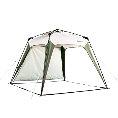 QUICK-UP Beach Canopy Tent UV Sun Shelter Shade Instant Quick Easy Set Up, Portable Pop Up Sunshade Tents, with UV Protection and One Shade Wall Included for Family - 8.2' × 8.2': Sports & Outdoors