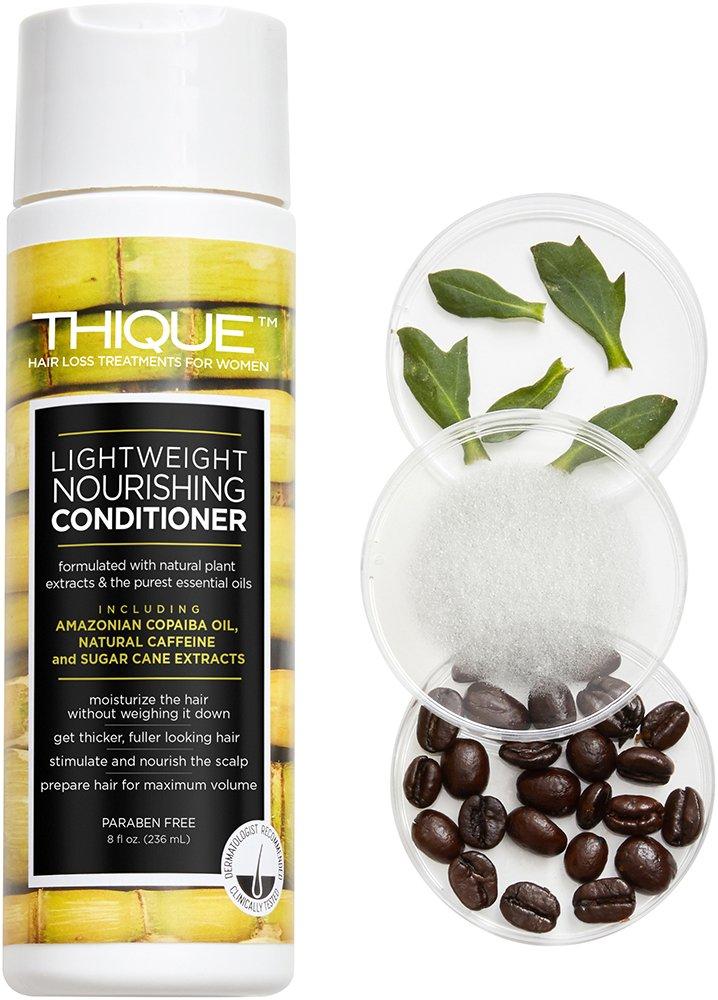THIQUE Lightweight Nourishing Conditioner Volumizing Hair Loss Treatment for Women - Paraben Free 8oz