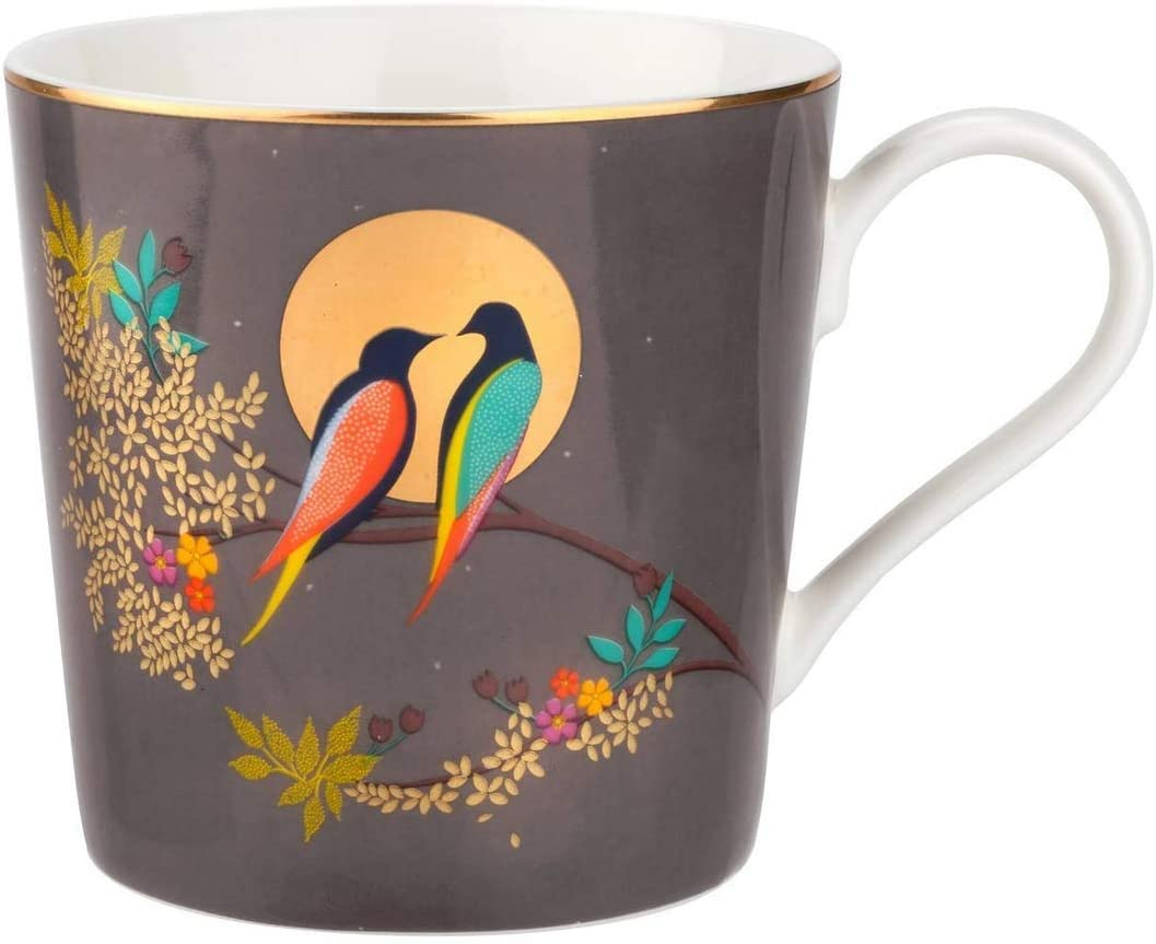 Sara Miller London for Portmeirion Chelsea Collection 12 oz Mug - Dark Grey