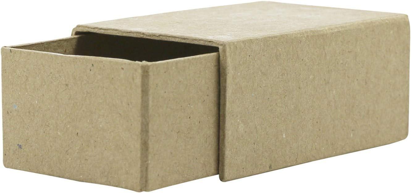 décopatch Caja de cerillas (tamaño Mediano, 6 x 9 x 4 cm), Papel, marrón, 9 x 6 x 4 cm: Amazon.es: Hogar