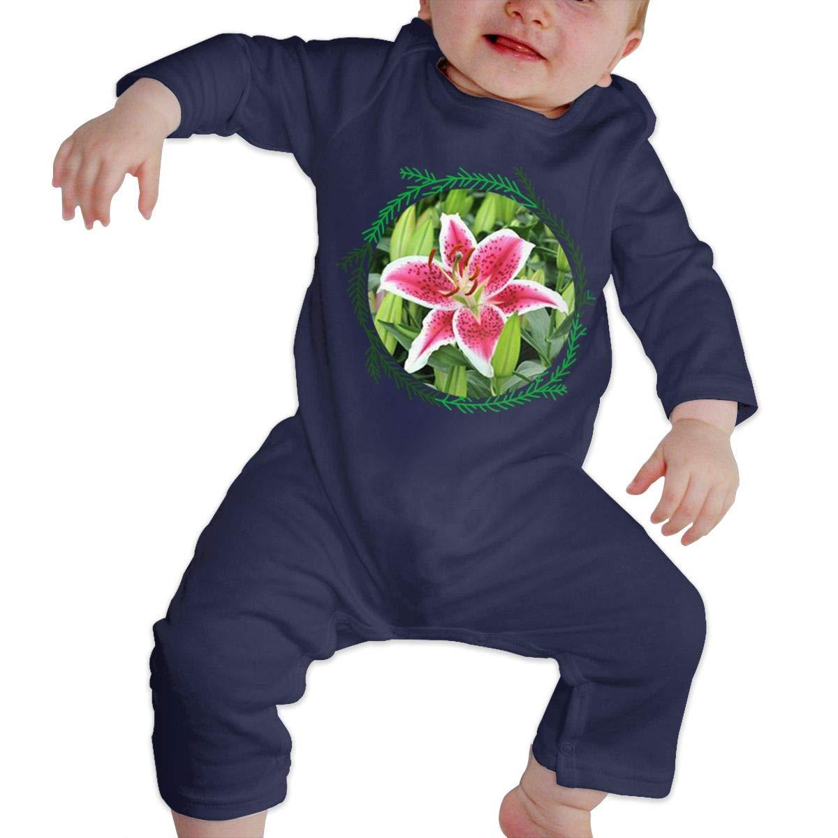 NOALKJ Babys Long Sleeve Romper,Beautiful-Flower Jumpsuit Bodysuit Clothes
