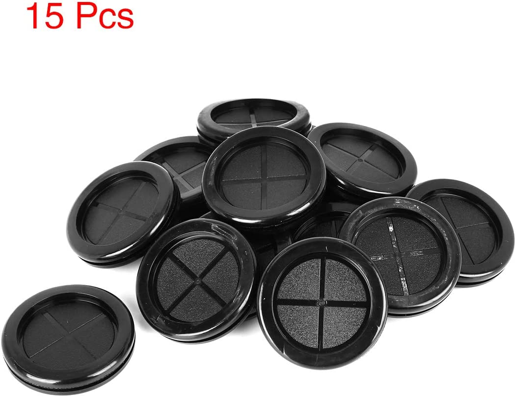 X AUTOHAUX 250pcs 16mm Rubber Grommet Eyelet Ring Gasket Double Side O Ring Electric Cable Protector Black for Car