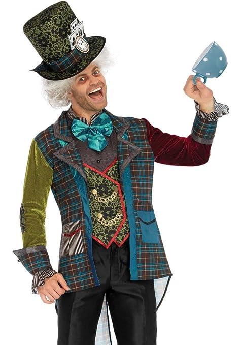 15c7b319503c7 shoperama Deluxe Mad Hatter Hombre Disfraz de Leg Avenue del Sombrerero Loco  de Alicia en el
