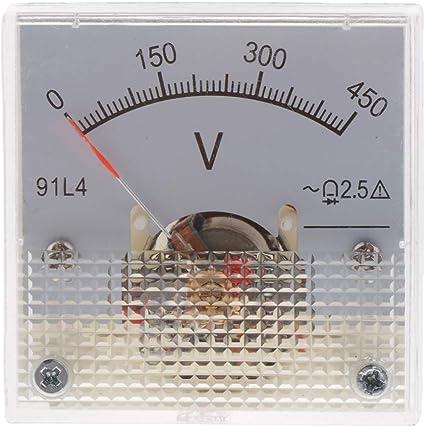 0-150V LOVIVER Voltm/ètre Mini Mesure Compteur Analogique Volt Tension Panneau