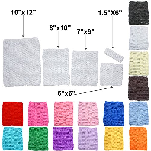 6/'/'Crochet Tube Top Elastic Waistband Dress Girls Stretchy Beautiful Hair Bands