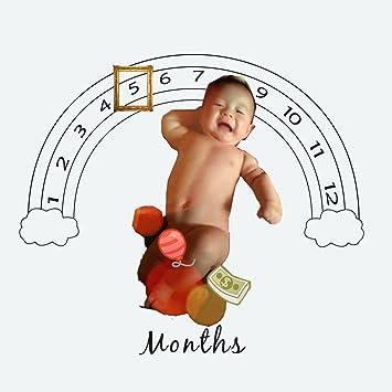 Newborn Infant Baby Photography Prop Soft Milestone Blankets Backdrop Cloth 1x1m