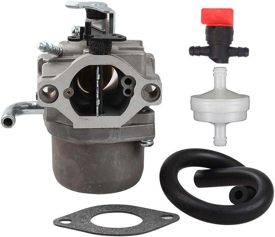 Powtol 590399 Carburetor Carb for 796077 Lawn Mower Engine with Gasket Fuel Line Filter Valve