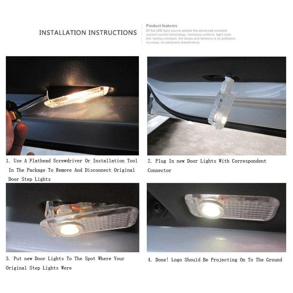 Amazon.com: Flyox YBD-01 Easy Installation Car Door LED Logo Projector  Ghost Shadow Lights for Cadillac Series (2 Pack): Automotive