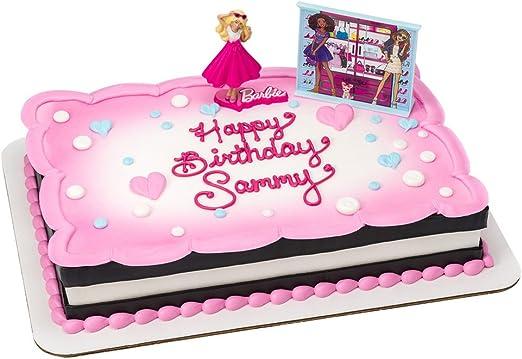 Stupendous Amazon Com Barbie Birthday Cake Kit Kitchen Dining Funny Birthday Cards Online Barepcheapnameinfo
