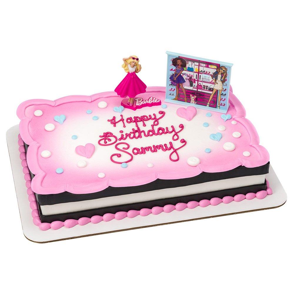 Amazon Barbie Birthday Cake Kit Kitchen Dining