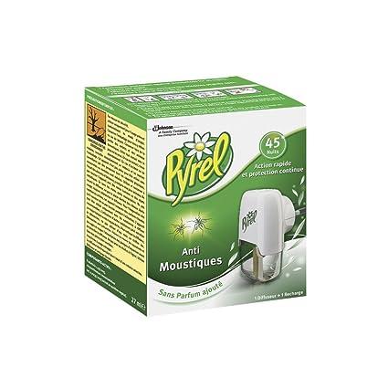 PYREL difusor eléctrico líquido, 1 recarga, antimosquitos, 45 noches, insecticida