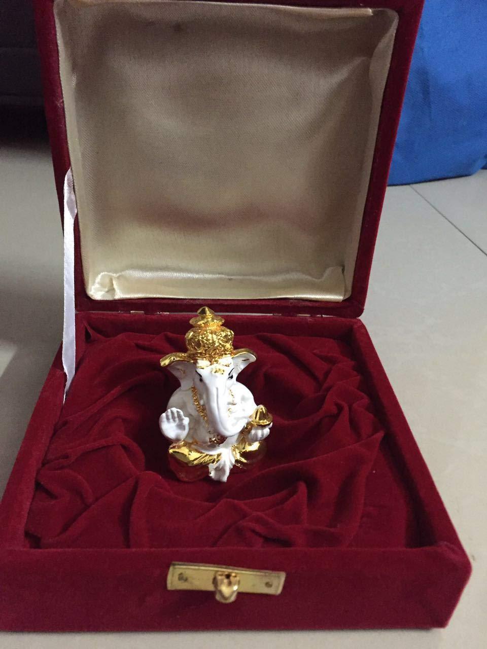Buy 24k Gold & 999 Silver Plated Ganesha in Velvet Box