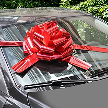 "Party Bliss Giant Red Bow for Cars 23"" Perfect on a New Car Big Bows 4336858995"