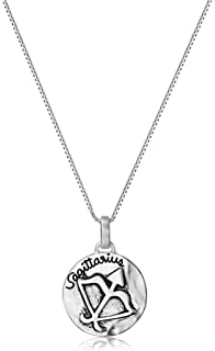 Amazon sterling silveryou hold my heart forever heart pendant sterling silver reversible zodiac pendant necklace 18 aloadofball Gallery