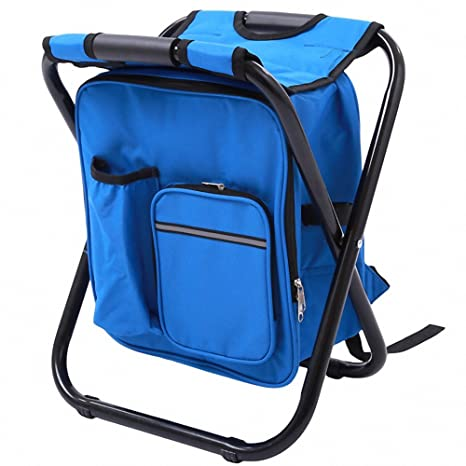 Novelty & Special Use Outdoor Folding Stool Portable Backpack Chair Stool With Insulated Cooler Bag For Camping Fishing Hiking Beach Making Things Convenient For The People
