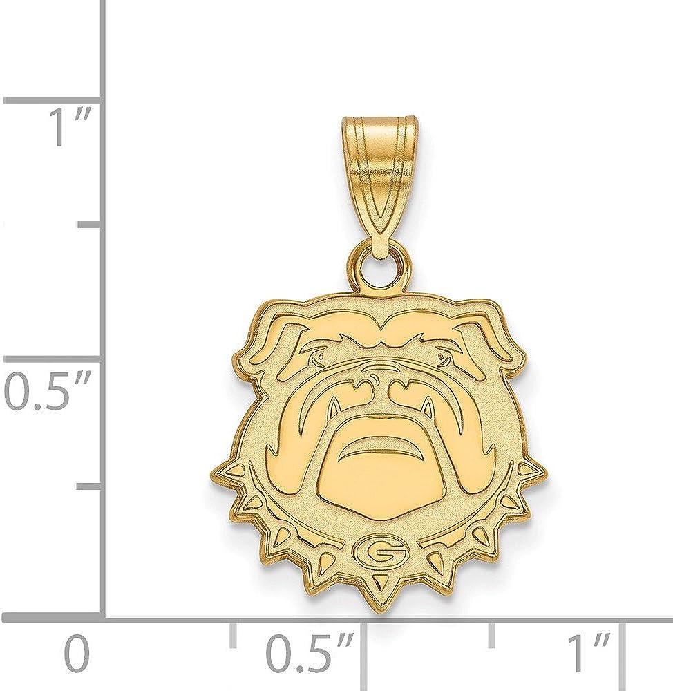 Sterling Silver w//Gold Plated LogoArt East Carolina University XL Enamel Disc Pendan