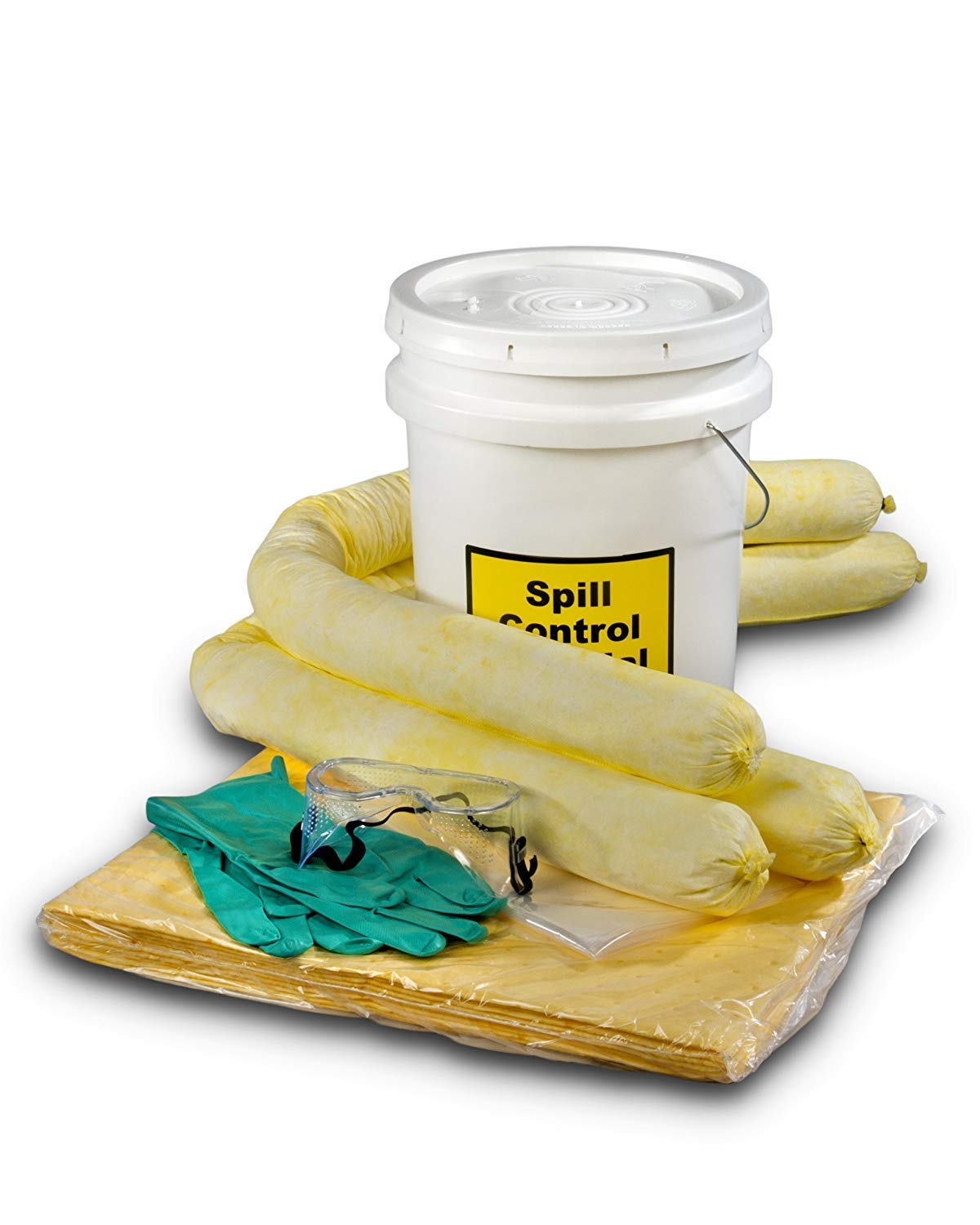 ESP SK-H5 16 Piece 5 Gallons Hazmat Absorbent Spill Kit, 5 Gallons Oil Absorbency (Pack of 3) by ESP (Image #1)