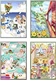 Colorful Jetoy Cat Coloring Book For Adults Cute Cat Choo Choo Vol. 2 Anti Stress Painting + 1 Free Gift Giraffe Bookmark