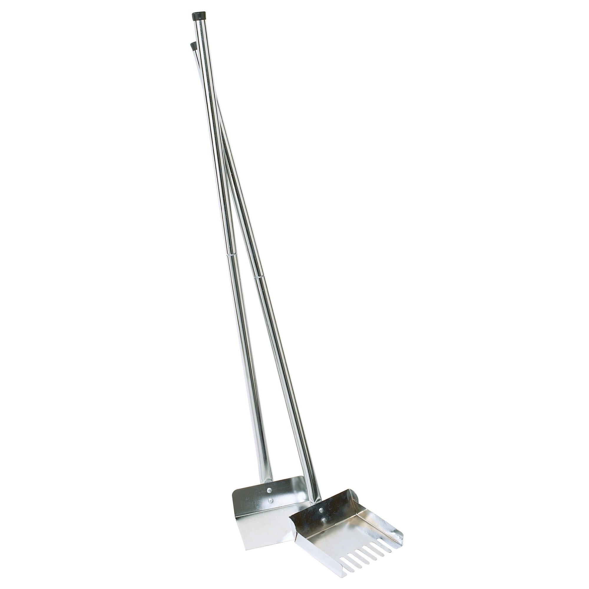 "Clean Go Sanitary Dog Poop Scooper, 36"" Length – Uses Chrome-Plated Steel & Rake-Style Tines to Scoop Dog Waste on Grass"