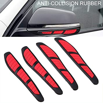 4x Anti-collision Trim Black Car Door Edge Guard Strip Protector Bumper