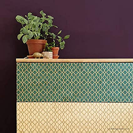 Amazon Com Medina Trellis Bohemian Furniture Stencil Small