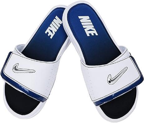 Amazon.com   Nike Men's Comfort 2 Slide, White/Old Royal ...