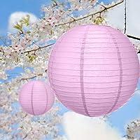 Paper Lanterns for Wedding Party Festival Decoration - Mix and Match Colours 12 pcs Pink No