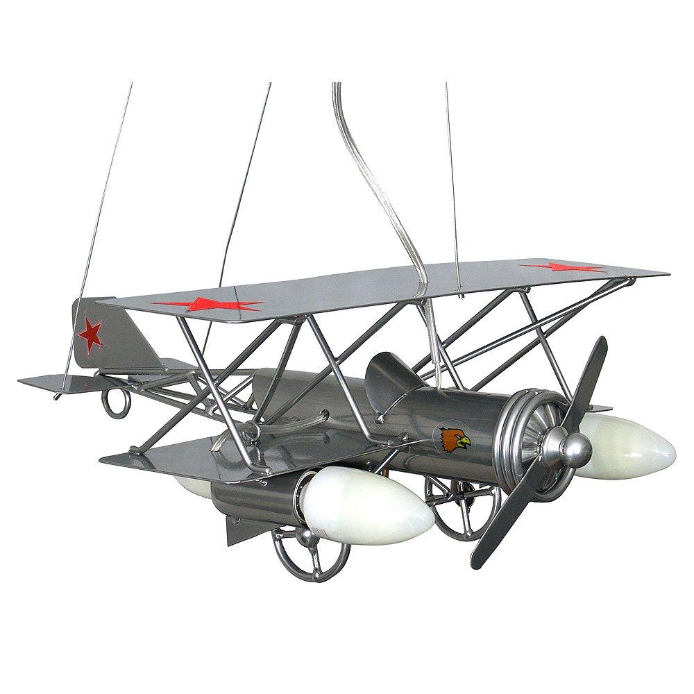 SAMOLOT / Flugzeug Silber Kinderzimmerleuchte Kinderzimmerlampe ...