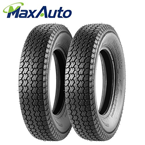 Set of 2 Trailer Tire 205/75D15 205 75 15 Load Range C - Rims 15 Tires With