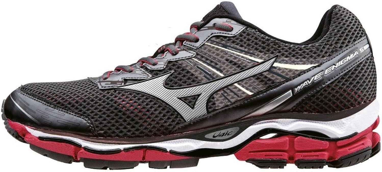 Mizuno Wave Enigma 5 - Zapatillas de running para hombre, color rojo y negro, (Dark Shadow / Silver / Shin Red), 45: Amazon.es: Zapatos y complementos