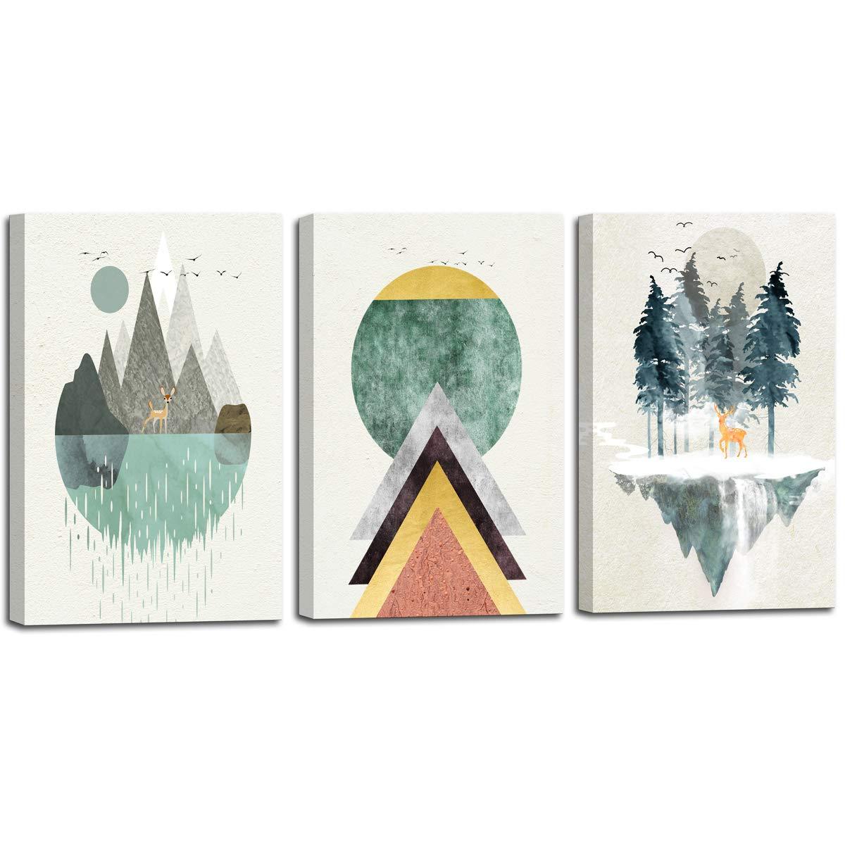 Cuadros decorativos Canvas 3 paneles de 30 x 40 cm Abstract