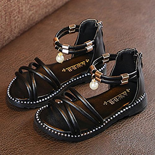 VEMOW New Kids Shoes Baby Boy Girl Sandals Warm Ankle Boots Zipper Child Chelsea Sports Outdoor Flats Flip Flops Lace-up Toddler Closed Toe Summer Beach Sneakers G-black IQZhYfa3C
