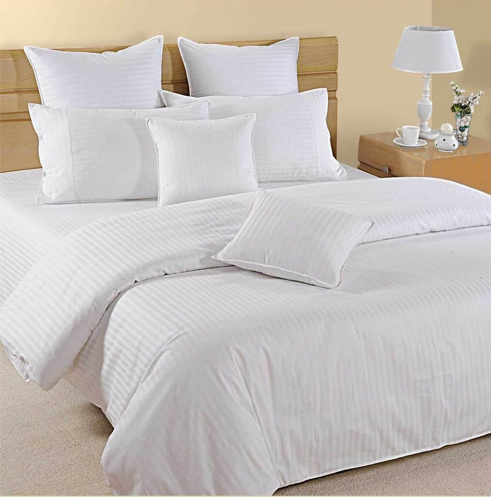 6PCS Stripe White Full Size Sheet Set 100 % Egyptian Cotton (24 Inch Deep Pocket) 1000 Thread count