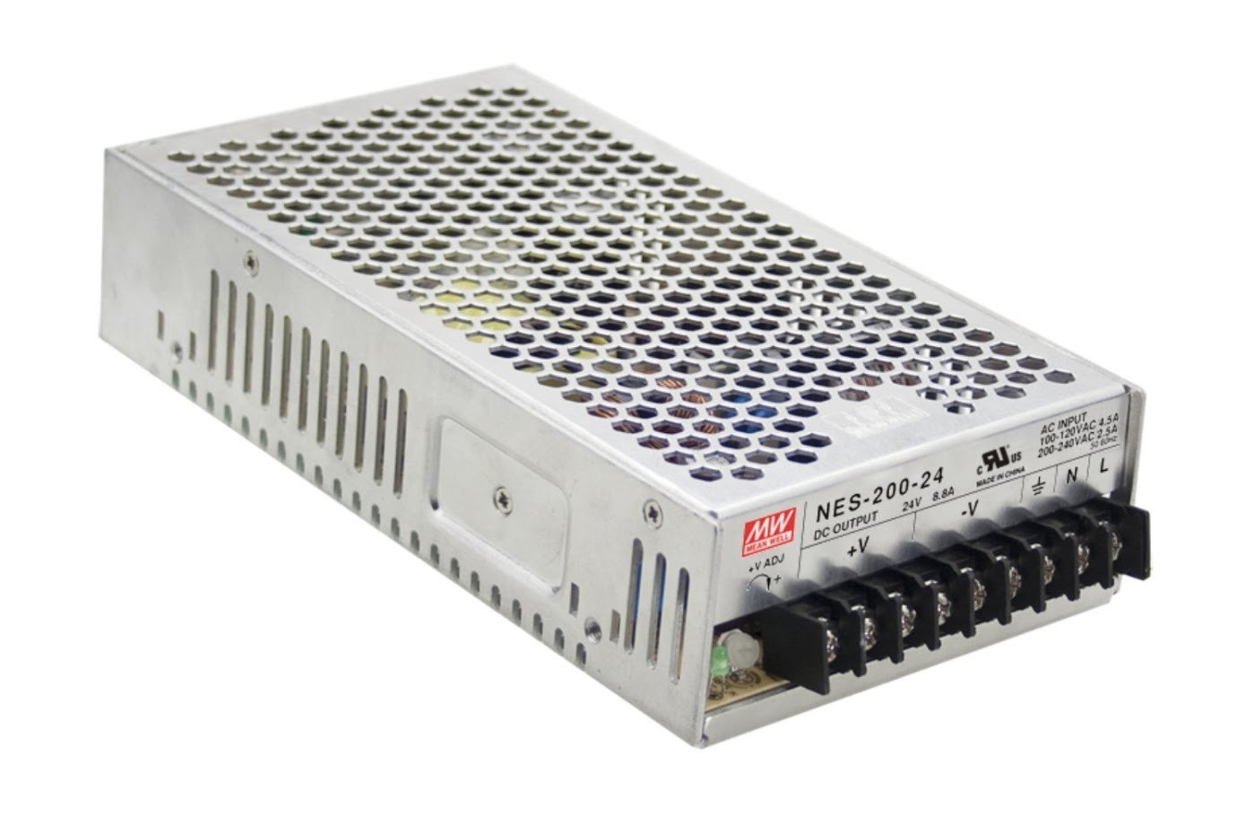 Enclosed Type 202.5W 7.5V 27A NES-200-7.5 Meanwell AC-DC Single Output NES-200 Series MEAN WELL Switching Power Supply